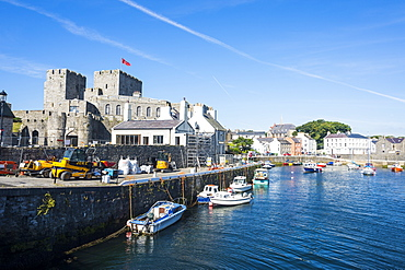 Harbour of Castletown, Isle of Man, crown dependency of the United Kingdom, Europe