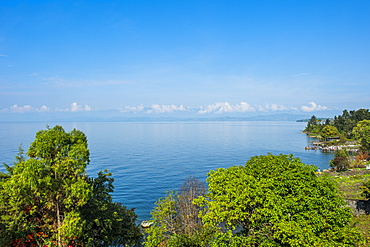 View over Lake Kivu, Goma, Democratic Republic of the Congo, Africa