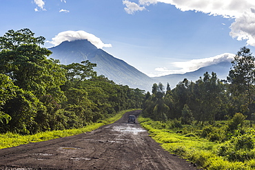 The volcanic mountain chain of the Virunga National Park, UNESCO World Heritage Site, Democratic Republic of the Congo, Africa