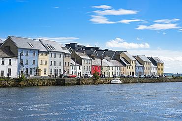 The long walk picturesque walkway, Galway, Connacht, Republic of Ireland, Europe
