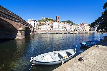 The town of Bosa on the River Temo, Sardinia, Italy, Europe
