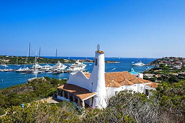 The bay of Porto Cervo, Costa Smeralda, Sardinia, Italy, Mediterranean, Europe