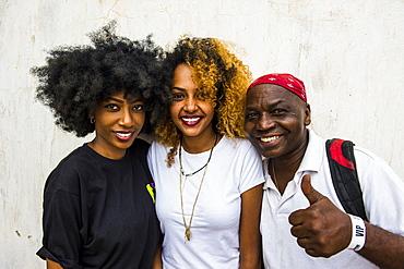 Locals posing for the camera, Bujumbura, Burundi, Africa
