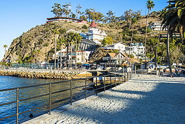 The town of Avalon, Santa Catalina Island, California, United States of America, North America