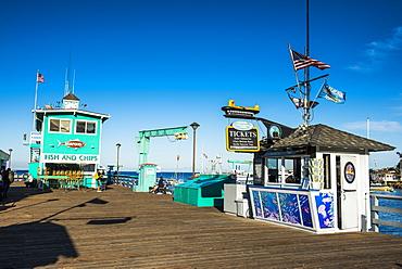 Little pier in Avalon, Santa Catalina Island, California, United States of America, North America