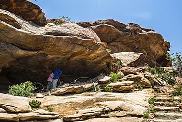 Laas Geel caves with prehistoric paintings, Somaliland, Somalia, Africa