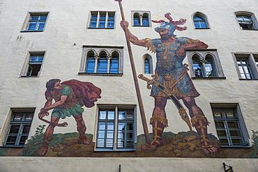 Goliath House, Regensburg, UNESCO World Heritage Site, Bavaria, Germany, Europe