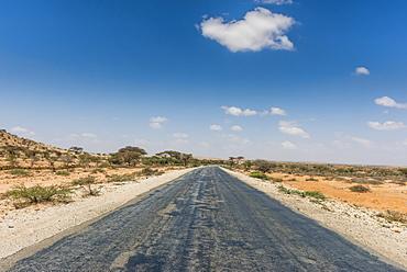Road between Hargheisa and Berbera, Somaliland, Somalia, Africa