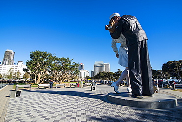 Embracing Peace memorial on the Ocean front of San Diego, California, United States of America, North America