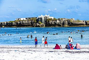 Little island across from Jazeera beach, Somalia, Africa