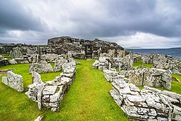 Iron Age built Broch of Gurness, Orkney Islands, Scotland, United Kingdom, europe