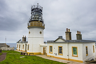 The Sumburgh head lighthouse, Shetland Islands, Scotland, United Kingdom, Europe