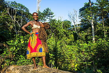 Baka pygmies in the Dzanga-Sangha Special Reserve, UNESCO World Heritage Site, Central African Republic, Africa