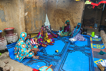 Backyard of a traditional house, Gaoui, near N'Djamena, Chad, West Africa, Africa