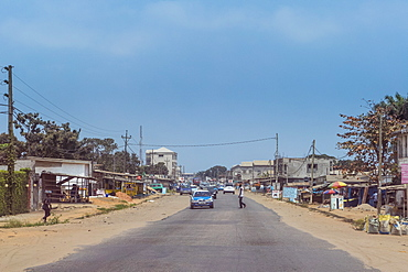 Downtown Pointe-Noire, Republic of the Congo, Africa