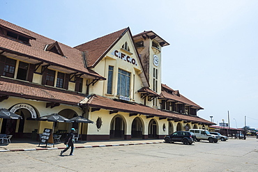 Colonial Pointe Noire Railway Station, Pointe-Noire, Republic of the Congo, Africa