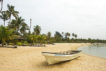 Long beach on Mussulo island, Luanda, Angola, Africa