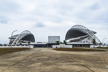 Soccer stadium Angondje built for the Africa Cup of Nations, Libreville, Gabon, Africa
