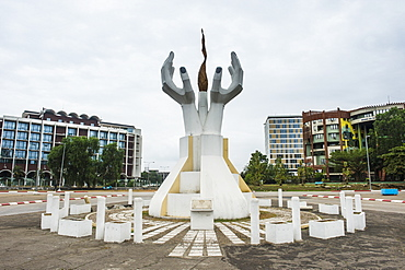 Monument on the Triumph Boulevard of Libreville, Gabon, Africa