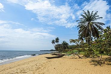 Beautiful beach in Kribi, Cameroon, Africa