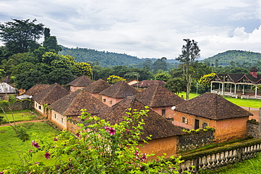 View over Fon's Palace, Bafut, Cameroon, Africa