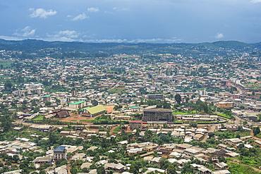 View over Bamenda, Cameroon, Africa