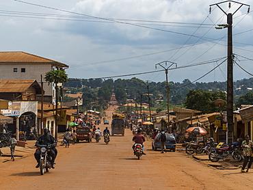 The town of Yokadouma, Eastern Cameroon, Africa