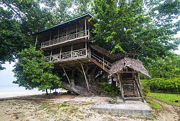 Giant tree house along the Boluminsky highway, Kavieng, New Ireland, Papua New Guinea, Pacific