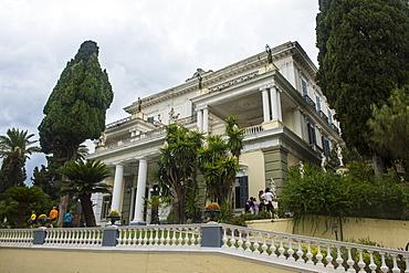Achilleion Palace, old town of Corfu, Ionian Islands, Greek Islands, Greece, Europe