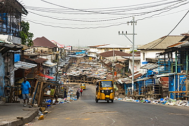 Waterfront market in the center of Monrovia, Liberia, West Africa, Africa