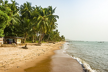 Beautiful beach in Neekreen near Buchanan, Liberia, West Africa, Africa