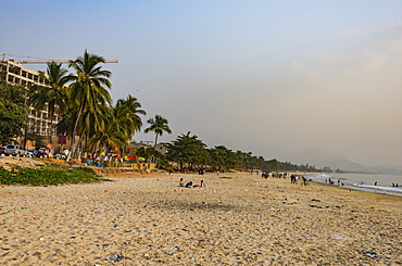 Lumley Beach at sunset, Freetown, Sierra Leone, West Africa, Africa