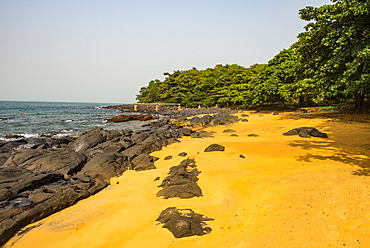 Pretty beach on Banana islands, Sierra Leone, West Africa, Africa