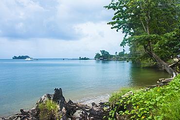 Beach in the Manus or Admirality islands, Papua New Guinea
