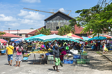 Market of Saint Laurent du Maroni, French Guiana, Department of France, South America