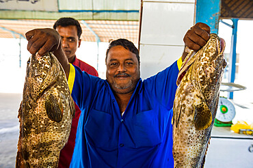 The fish market of Jeddah, Saudi Arabia, Middle East