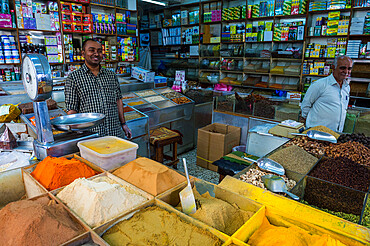 Spice shop, the old town of Jeddah, Saudi Arabia, Middle East