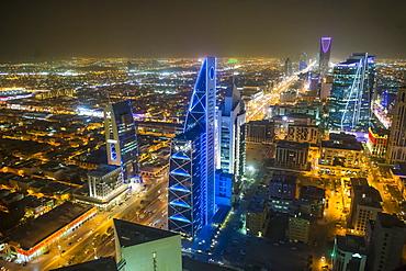 View over Riyadh from the Al Faisaliyah Centre skyscraper, Riyadh, Saudi Arabia, Middle East