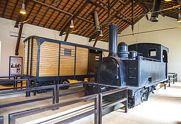 Old locomotive in the Hijaz railway station of Tabuk, Saudi Arabia, Middle East