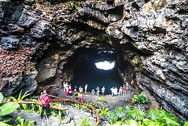 Jameos del Agua lava tunnel formed in a museum of Cesar Manrique, Lanzarote, Canary Islands, Spain, Atlantic, Europe