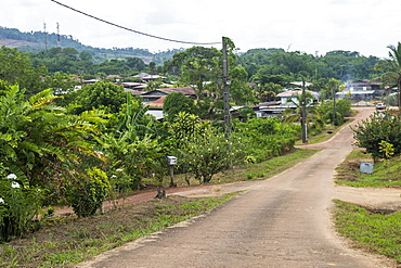 View over Cacao, French Guiana, Department of France, South America