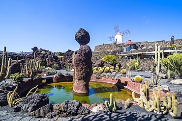 Jardin de Cactus (Cactus Garden) Cesar Manrique, Lanzarote, Canary Islands, Spain, Atlantic, Europe