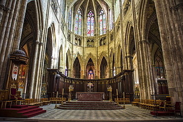 Interior of the Cathedral of Bordeaux, Aquitaine, France, Europe