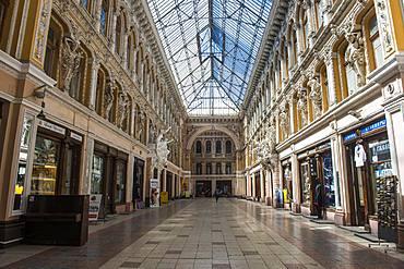 Beautiful historic shopping passage, Odessa, Black Sea, Ukraine, Europe
