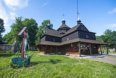 Wooden church in Chortkiv, Western Ukraine, Europe