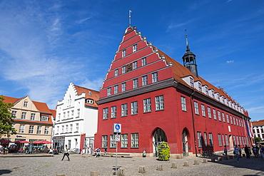 Old city hall on the central market square, Greifswald, Mecklenburg-Vorpommern, Germany, Europe