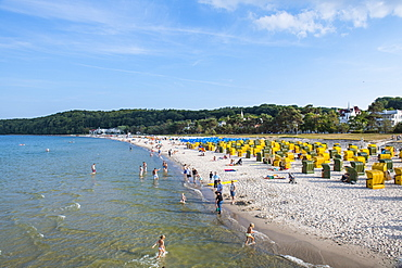 Seaside resort of Binz, Island of Rugen, Mecklenburg-Vorpommern, Germany, Europe