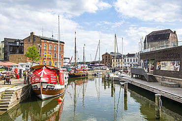 Harbour of the Hanseatic town of Stralsund, UNESCO World Heritage Site, Mecklenburg-Vorpommern, Germany, Europe