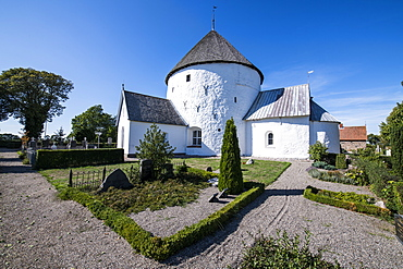 Nylars Round Church, Bornholm, Denmark, Scandinavia, Europe