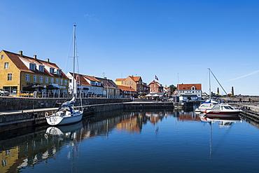 Harbour of Allinge-Sandvig Sogn, Bornholm, Denmark, Scandinavia, Europe